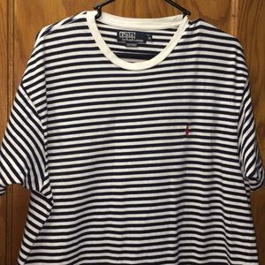 Polo by Ralph Lauren Men's White & Navy Blue Shirt